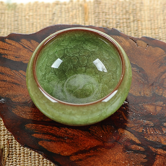 Handmade Kung Fu Ceramic  Ice crack Tea Cup bowl  40ml
