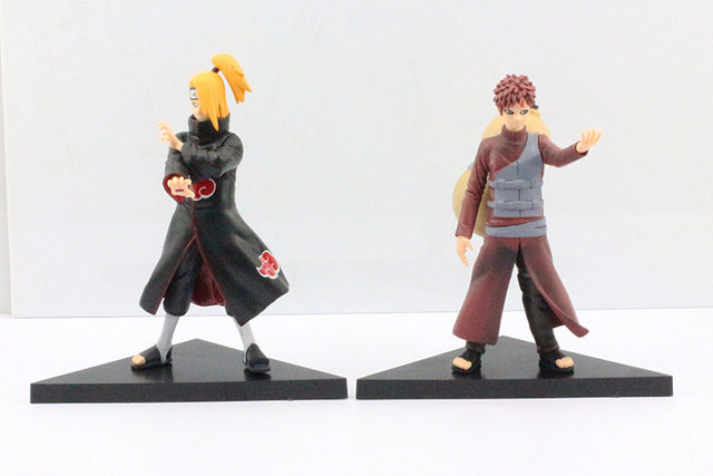 Naruto Deidara VS Gaara PVC Action Figures Toys Set of 2