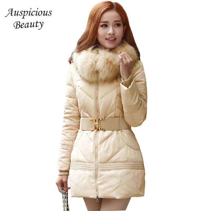 2017 New Winter Jacket Women Fur Hooded Parka Thick Cotton Coat Women Outerwear Jaqueta Feminina Inverno Chaqueta Mujer CXM333 jacket warm woman parkas female overcoat hooded plus size winter thick coat jaqueta feminina chaqueta mujer casacos de inverno