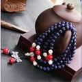 Ubeauty 6mm 108 naturales lapis lazuli cuentas de oración rosario pulsera de piedra azul collar de buda Tibetano de meditación de buda pulsera