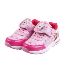 Spring New Children Shoes Girls Sneakers Elsa Anna Princess Kids Shoes Fashion Casual Sport Running Leather Shoes for girls in the spring of the new brand princess girls shoes shoes fashion bud children shoes