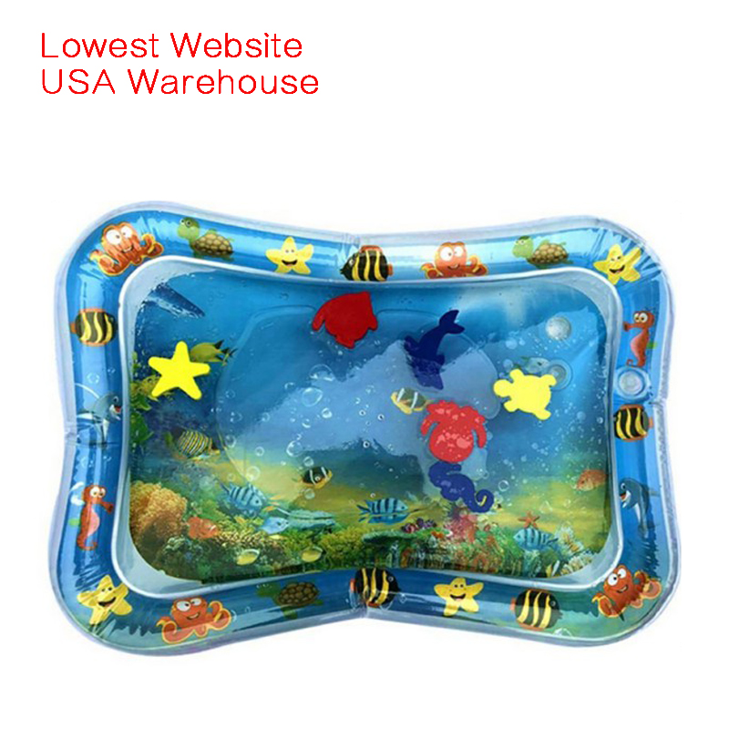 Inflatable Dual Use Baby Toys Kids Play Mat Inflatable Patted Pad Baby Tummy Water Mat Prostrate Water Cushion Pat Pad