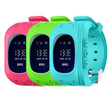 Anti Lost OLED Child GPS Tracker SOS Smart Monitoring Positioning Phone Kids GPS Baby Watch Compatible IOS & Android(China)