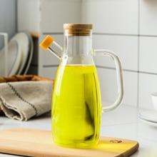 Kitchen Cooking Tools New Arrive Gravy Boat Glass Olive Oil Sauce Bottle For and Vinegar Dispenser Seasoning Jar 1Pc 650ml