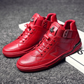 2017 Rojo/Negro zapatos de deporte hombre invierno encaje hasta zapatillas hombre hombres entrenadores zapatos de calidad superior hombres de la primavera zapatillas botines