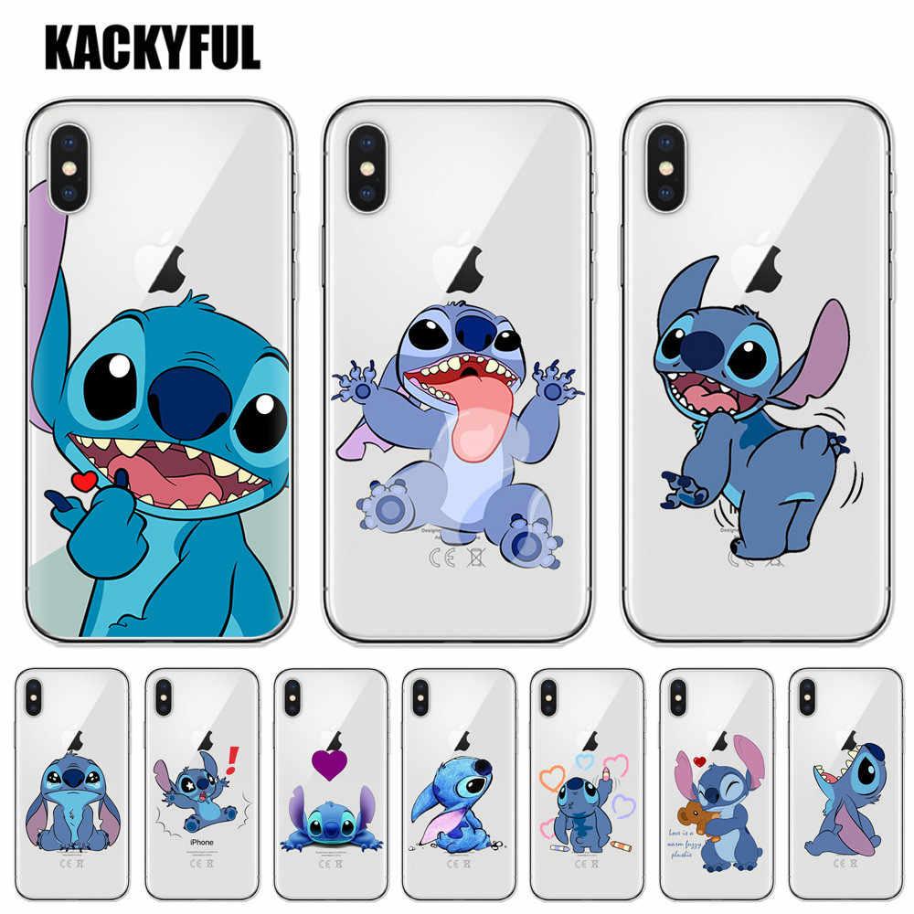 Casos de telefone do ponto dos desenhos animados para o iphone 6 s 6 s 7 8 plus x caso silicone macio tpu caso para o iphone xs max xr 5S se capa traseira