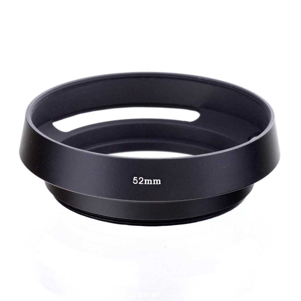 da525e176 Frete Grátis 52mm 52mm Camera Black Metal Ventilada Lens Hood Para Leica M  Lente de 52mm Fio