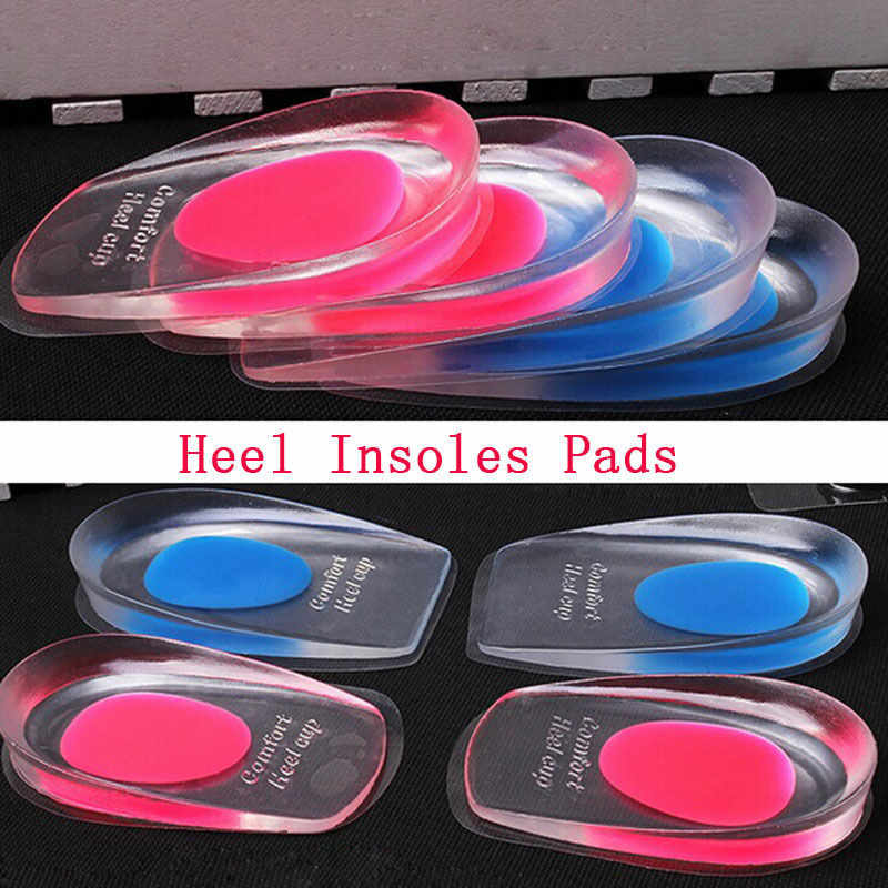 Men Women Silicone High Heel Shoe Cushion Insoles Pain Relief Foot Protectors Support Shoe Pad Soft Sport Increased Inserts