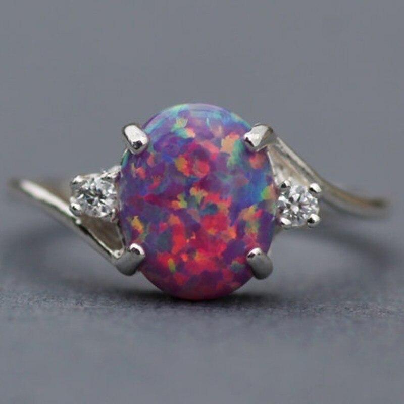 Charm Multicolor Heart Zircon Blue/White/Pink Fire Opal