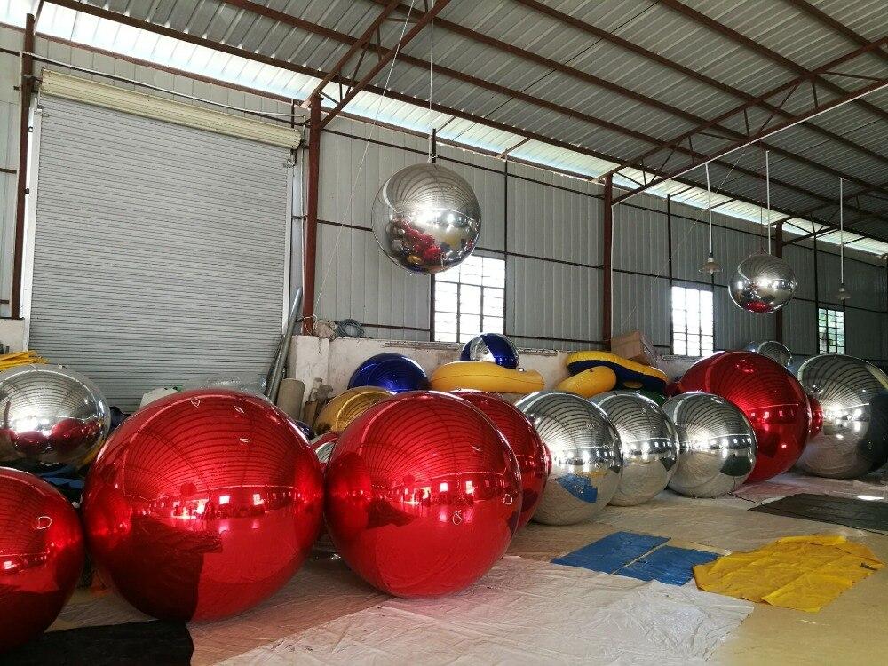 Rode inflatabla ballon voor reclame spiegel bal voor partij