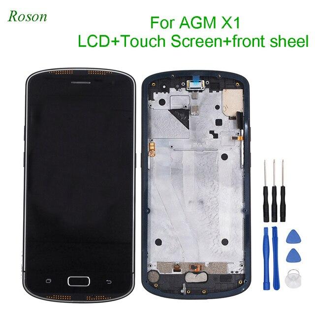 """Roson AGM X1 Display LCD e di Tocco Dello Schermo di 5.5 """"Digitizer Con Telaio di Montaggio di Parti di Riparazione per AGM X1"""