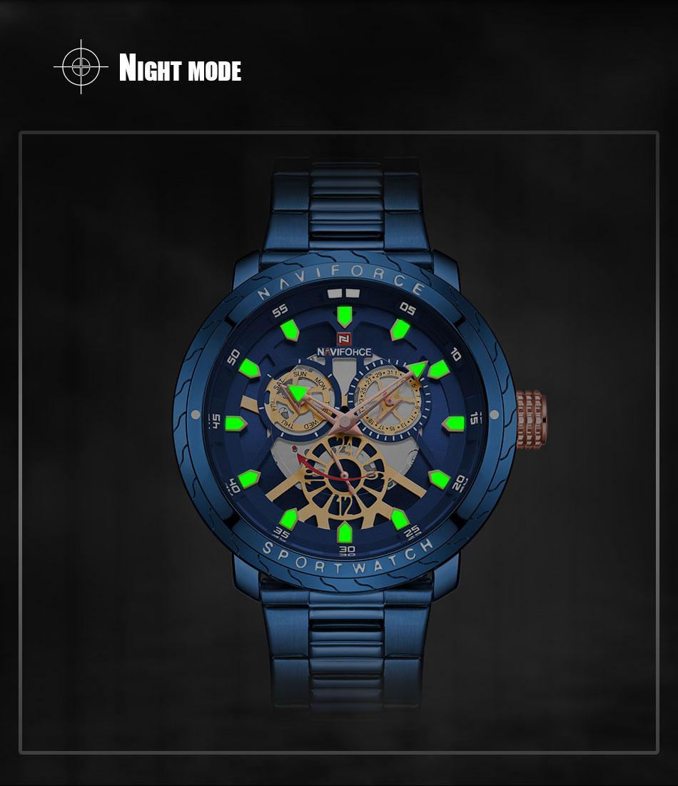 NAVIFORCE Fashion Watch For Men Top Brand Luxury Sport Watch Male Waterproof Quartz Wrist Watch Men's Stainless Steel Watch 2019 (7)