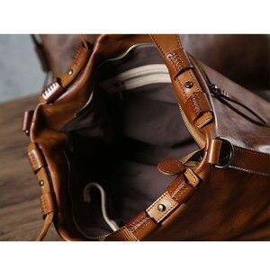 Image 5 - Aetoo original dos homens bolsa mensageiro artesanal bolsa de couro retro feminino curtido bolsa de couro macio