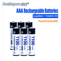2pcs Lot DP AAA1100mA Doublepow 1 2V AAA Ni MH Rechargeable Battery In Actual High Capacity