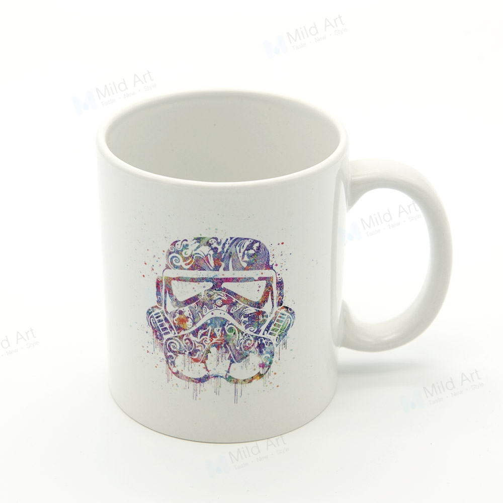 Watercolor Star Darth Vader Abstract Pop Movie Mask Kitchen Ceramic Water Cup Creative kids Gift Custom Coffee Tea Beer Mugs Set