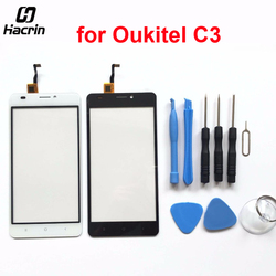 hacrin For Oukitel C3 Touch Panel High Quality Repair Parts Touch Screen Digitizer Glass For Oukitel C3 Cell Phone