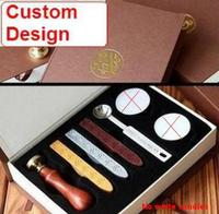 Wholesale Stamps Ancient Wax Seal Deluxe Suit Sealing Wax Stamp Custom Design Free Shipping