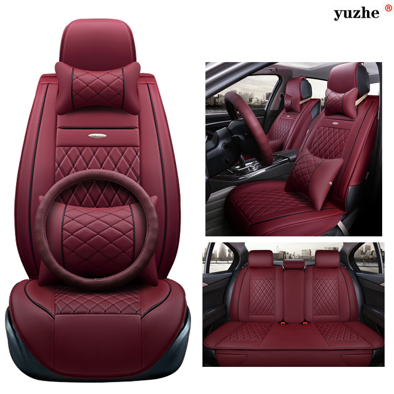 Yuzhe leather car seat cover For BMW e30 e34 e36 e39 e46 e60 e90 f10 f30 x3 x5 x6 x1 car accessories styling cushion цены онлайн