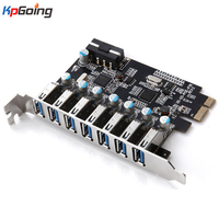 PCI E Usb 3.0 Expansion Card 7 Port USB 3.0 PCI Express Expansion Card Pcie USB3.0 Adapter Converter Desktop Computer Components