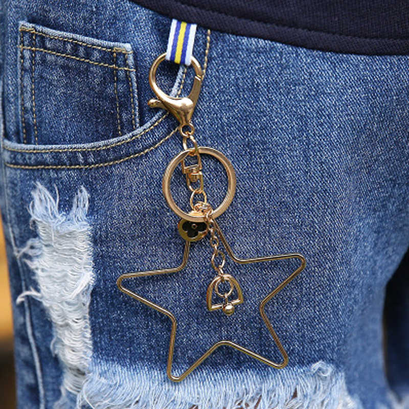 Odzież ciążowa spodenki dżinsowe luźne otwory Denim elastyczna talia krótkie dżinsy lato odzież dla ciężarnych kobiet