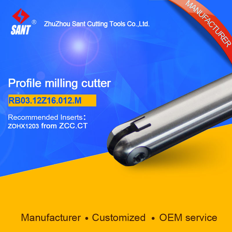 Suggested BMR04-012-G16-M Indexable Milling cutter SANT RB03.12Z16.012.M with ZOHX1203 carbide insert quality assurance profile milling cutter tools bmr03 025 xp25 m indexable milling cutter for carbide insert xpht25r1204