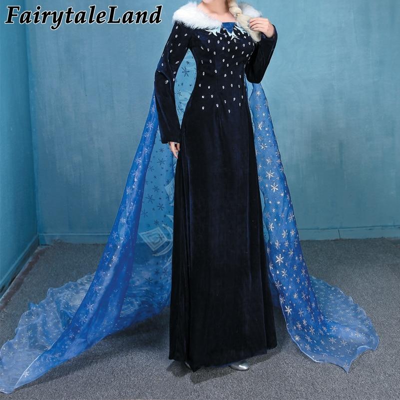Princess Elsa Cosplay Costume Fancy Olaf's Adventure Elsa Dress Halloween Anna Elsa Costume custom made