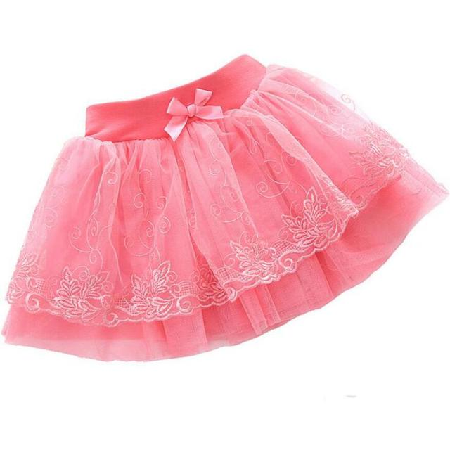 Hot Sale Girls Fluffy 3-8 Years Chiffon Pettiskirt Solid Colors tutu skirts girl Dance Skirt Christmas Tulle Petticoat