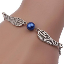 Stylish Wild Bracelet Fashion Women Retro Pearl Angel Wings Trendy Jewelry Bracelet Elegant Lady High Quality Bracelet BK1 L0330(China)