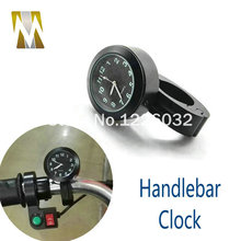 Universal 7 8 To 1 Motorcycle Handlebar Bar Mount Clock Watch for Cruiser snowmobile harley suzuki