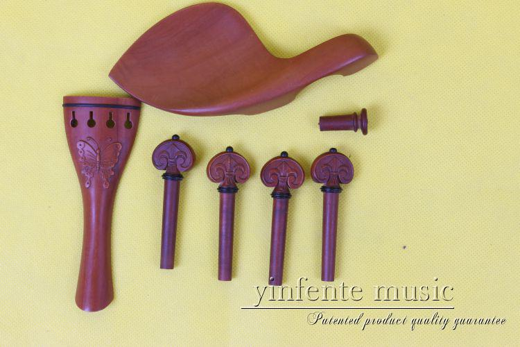 New 1 set 4 string  violin parts rosewood shell inlay 4/4 violin accessories 1# korean style different flowers and plant of 50 chinese embroidery handmade art design book