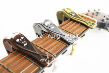 Alice A007H Metal Pirate Skull Guitar Capo Clamp For Acoustic Electric Guitar Gold/Silver/Bronze Free Shipping Wholesales