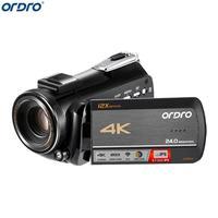 Ordro AC5 в формате 4 K UHD, Wi Fi, Камера 24MP 12X Оптический зум 100X цифровая записывающая видеокамера с масштабированием 3,1 ips Сенсорный экран цифровой
