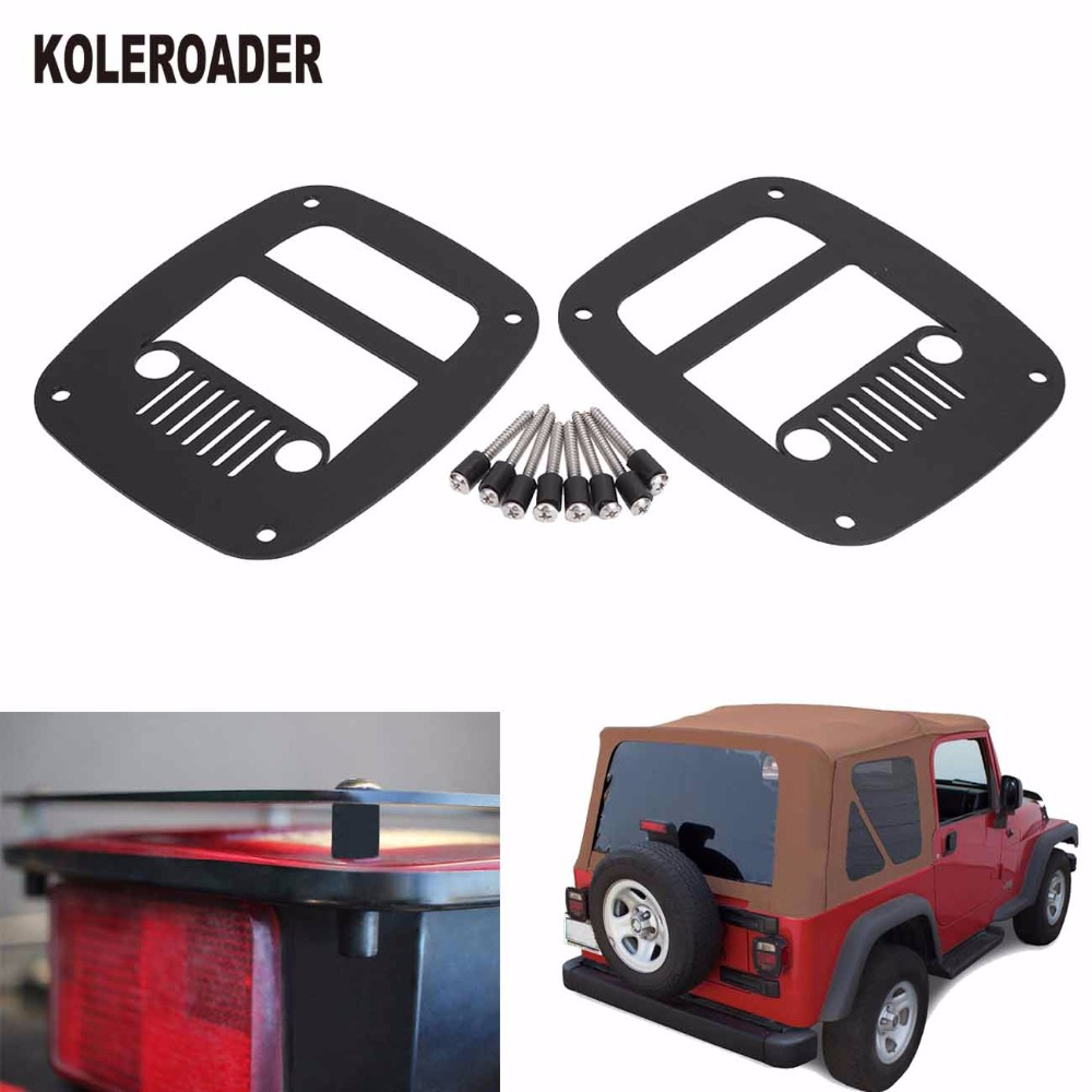 Tail Light Rear Lamp Cover Guards For 1987 2006 Jeep Wrangler Tj Yj Hood Accessories Taillight Protector Koleroader In Hoods From Automobiles