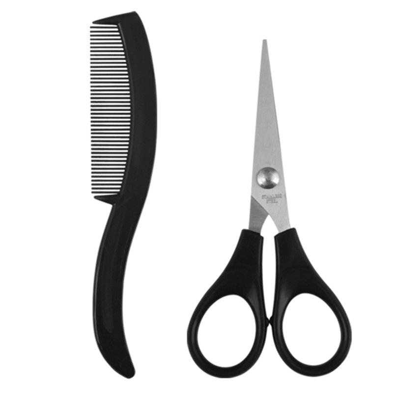 How To Trim Mens Long Hair With Scissors : How to control thick hair for men