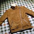 A Winter Falso Cordero Piel De Oveja Para Hombre de Cuero de La Motocicleta Chaqueta de Gamuza Forradas Corta Faux Abrigos De Piel Para Hombre Negro Marrón