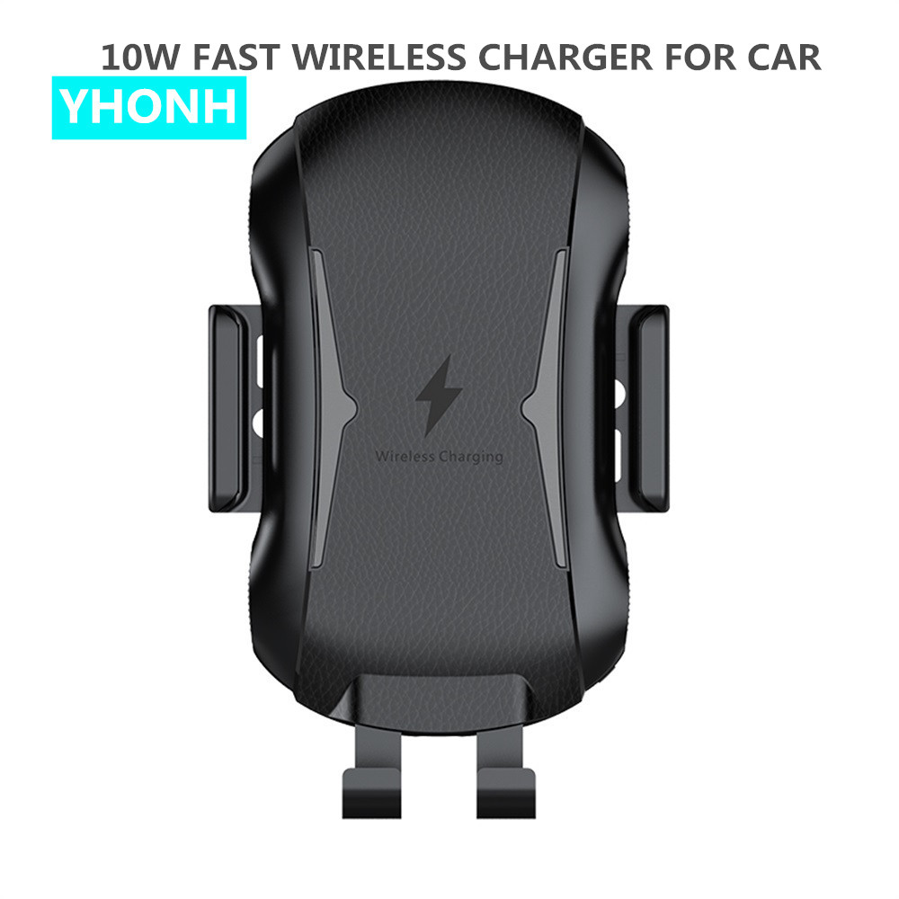 YHONH <font><b>Wireless</b></font> <font><b>Car</b></font> <font><b>Charger</b></font> for Huawei P30 Pro Samsung S10 Plus iPhone X Xs Max Auto Clamping Qi Fast Charging Air Vent Holder image