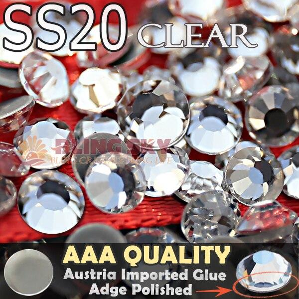 Bra kvalitet! AAA HotFix Rhinestone SS20 Klar Crystal 1440st / Bag - Konst, hantverk och sömnad - Foto 1