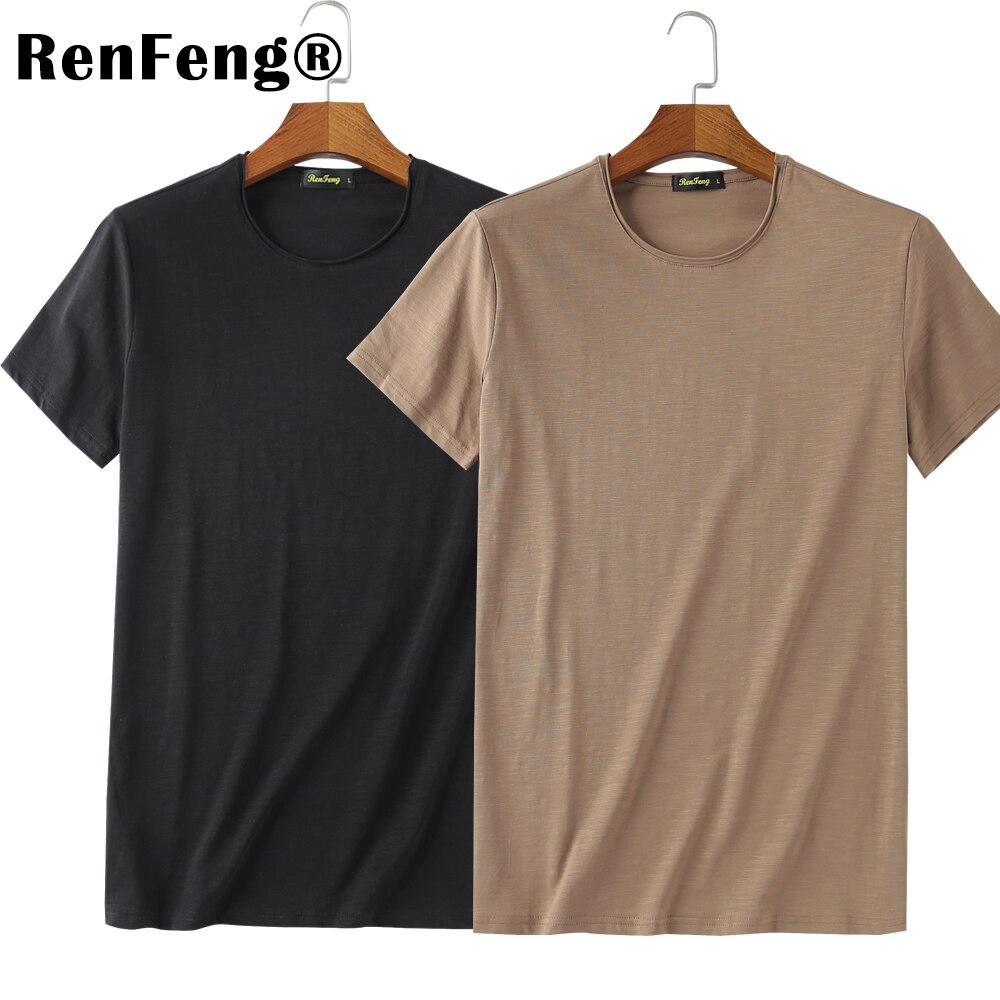 ... 2018 Cool T Shirt Men 95% Bamboo Fiber Hip Hop Basic Blank White T- ... 492b42bde