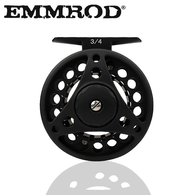 Fly Reel 5//6 WF Aluminum Fly Fishing Reel Smooth Running Fishing Wheel Black