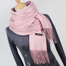 font b Women b font solid color cashmere font b scarves b font with tassel