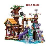 BELA 10497 Building Bricks Compatible With Lego Friends Blocks Adventure Camp Tree House 41122 Emma Mia