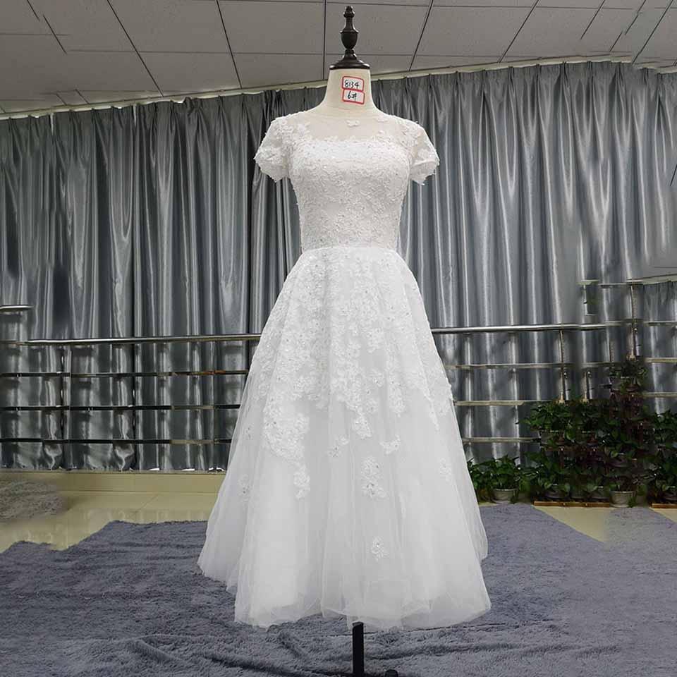 greenspine short wedding dresses 2019 robe de mariee sirene elegant women bridal dress with cap