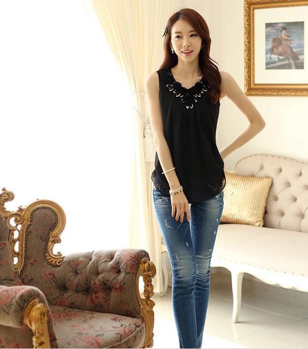 HTB1kEuRLXXXXXbNXXXXq6xXFXXXn - Blusas femininas blouses blusa feminino Sleeveless Shirt S-6XL Plus Size