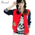 Street Harajuku style baseball jacket women 2015 splice casaco feminino jackets for women fashion jaqueta college feminina sale