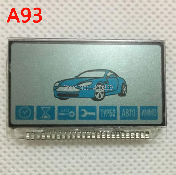 A93 LCD Display With Metal Feet For Russian 2 Way Car Alarm System Starline A93 Lcd Remote Control Key Fob Keychain