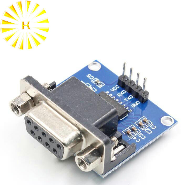 MAX3232 RS232 To TTL Serial Port Converter Module Female DB9 D-Sub New