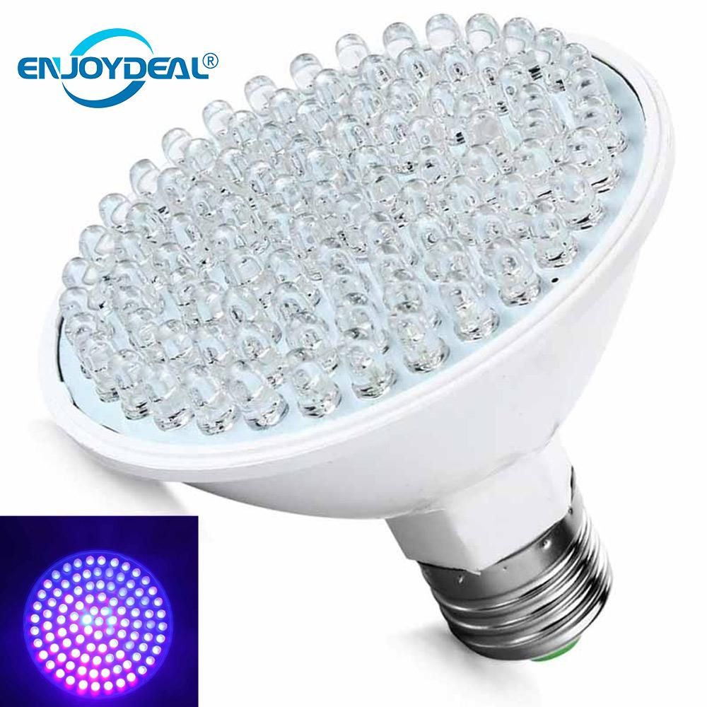 Hot Selling Ultra Bright E27 100LED 220V UV Ultraviolet Purple Light Lamp Bulb Plastic Low Power Consumption