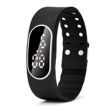 Perfect Gift Mens Womens Rubber LED Watch Date Sports Bracelet Digital Wrist Watch Levert Dropship Jan-17
