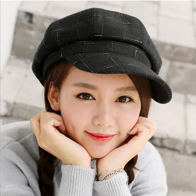 Retro Fashion Spring Winter Artist Octagonal Cap Peaked Hat Casquette Beret Wool Woolen Female font b