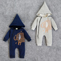 winter warm elephant baby boy clothes hooded baby costume baby clothes Plus velvet